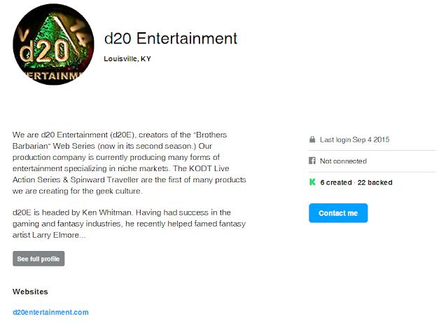 Ken Whitman Logged Into Kickstarter Today
