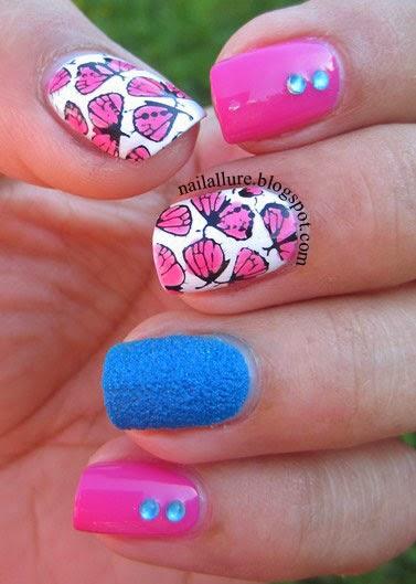 Butterflies Stamping Nail Art