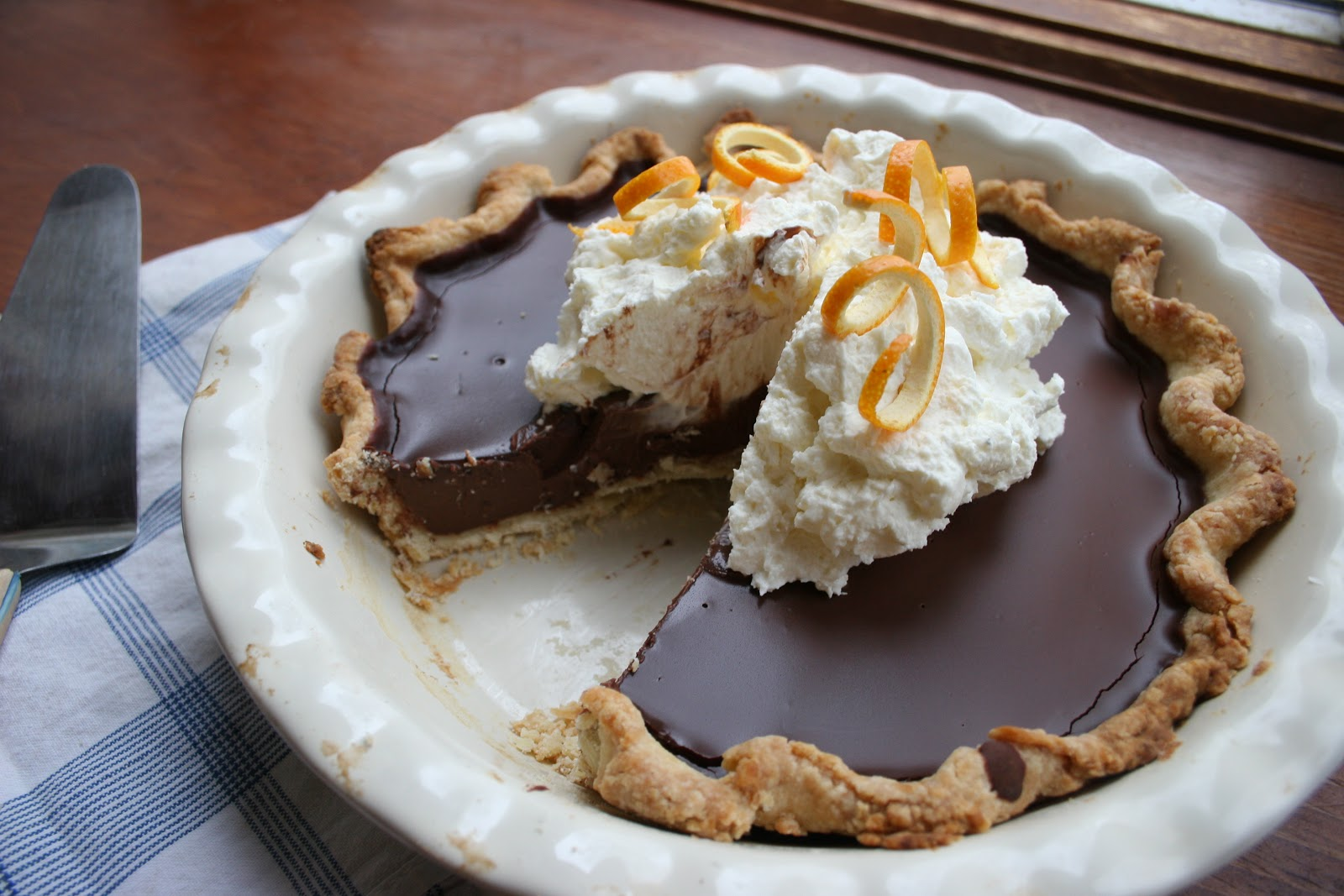 Nothing in the House: Chocolate Orange Pie with Mascarpone Cream
