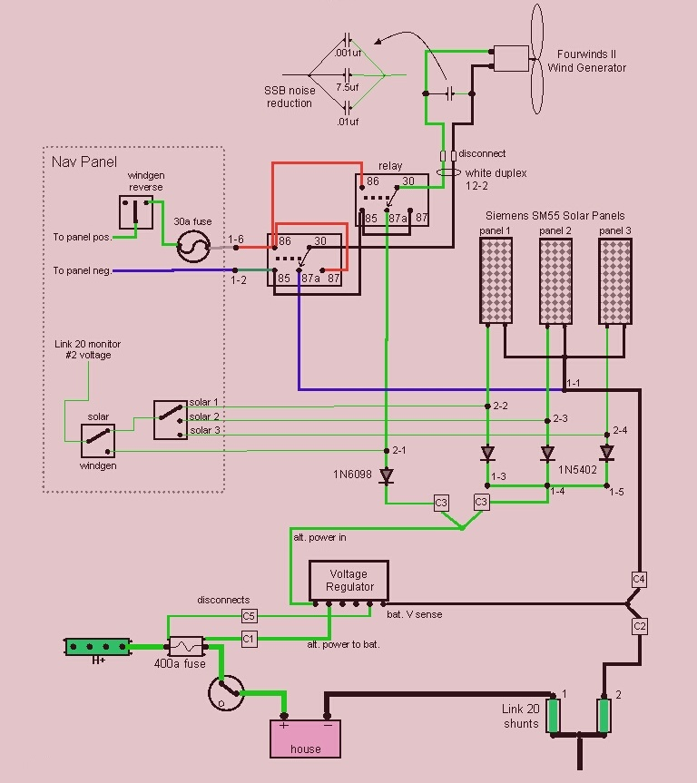 Wind Generator and Solar Panel Wiring Diagram | Elec Eng World on wiring diagram for powermate generator, wiring diagram for honda generator, wiring diagram for coleman generator, wiring diagram for electric generator, wiring diagram for home generator, wiring diagram for onan generator, wiring diagram for emergency generator, wiring diagram for generac generator, wiring diagram for standby generator,
