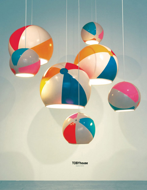 I d e a balones de playa o l mparas - Lamparas de techo originales ...