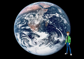 Ben Ten 10 Standing Tall free wallpapers in Earth from Space background