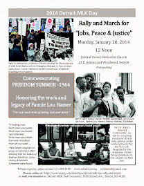 Attend the Detroit MLK Day Rally & March, Monday January 20, 2014