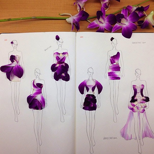 Designing dresses with petals