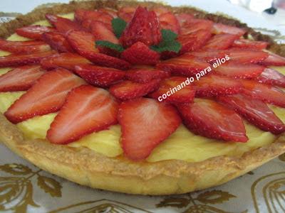 Cocinando para ellos tarta de fresas - Cocinando para ellos ...