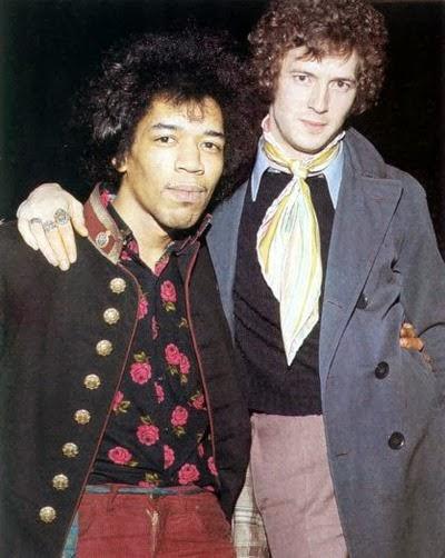 Jimi Hendrix e Eric Clapton