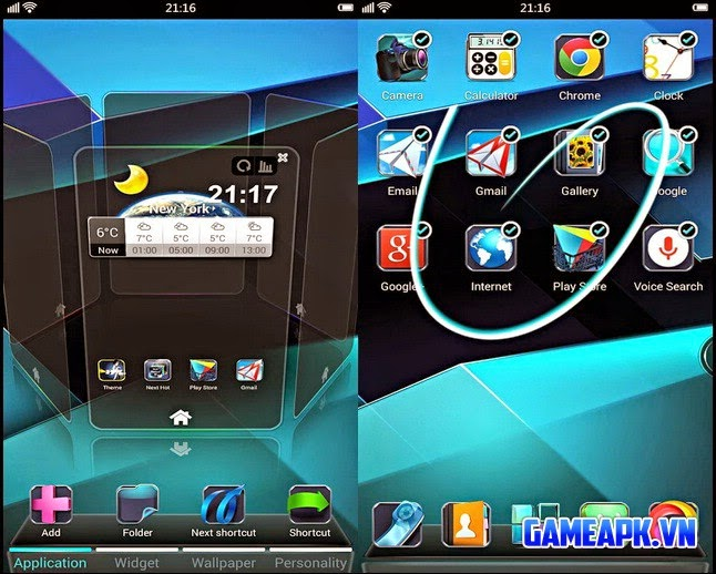 Next Launcher 3D Shell v3.19 Patched cho Android