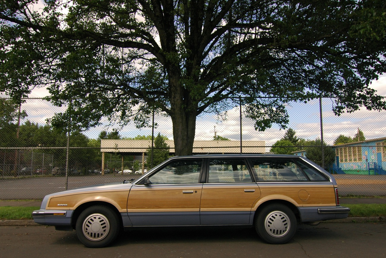 Old Parked Cars 1984 Pontiac 6000 Station Wagon