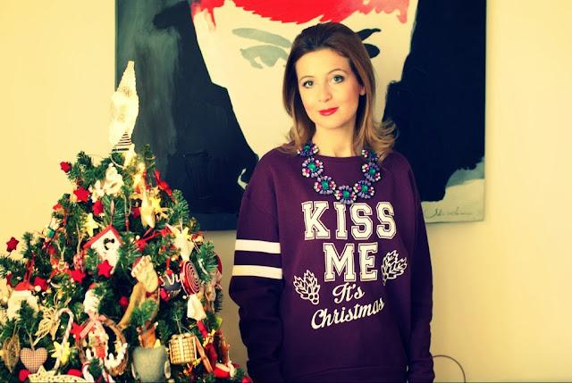 Christmas sweatshirt, Merry Christmas, Fashion and Cookies, fashion blogger