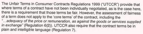 unfair terms in consumer regulations 1999 What is the unfair terms in consumer contracts regulations 1999 find about all about the unfair terms in consumer contracts regulations 1999 here.