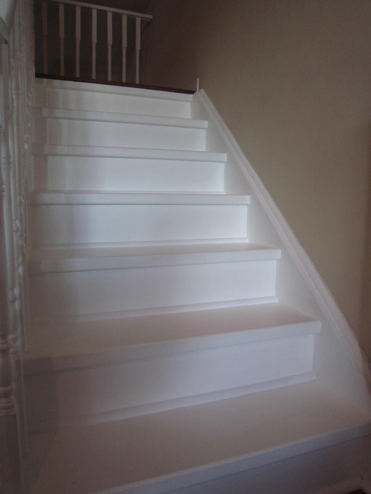 Little townhome love a little paint goes a long way for Cheap stair makeover