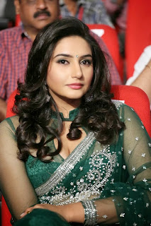 Actress Ragini Dwivedi  Pictures in Saree at Jenda Pai Kapiraju Audio Launch 0005