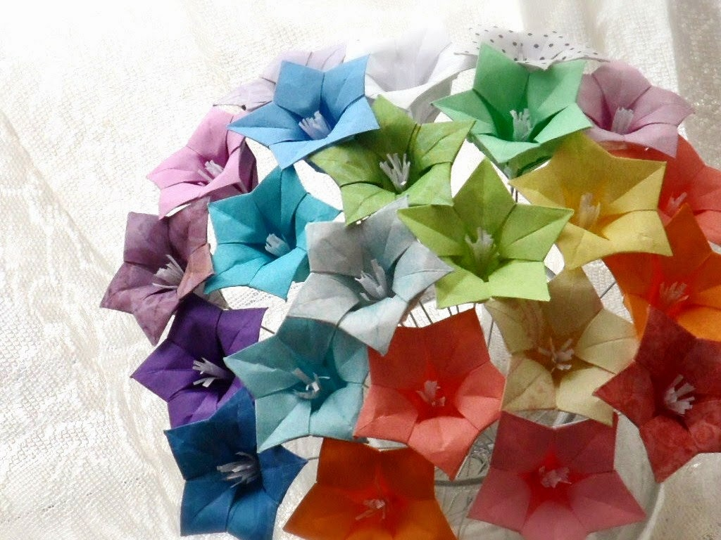 Origami Flower Paper Moving Origami