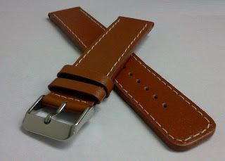 20 mm Brown Leather Strap