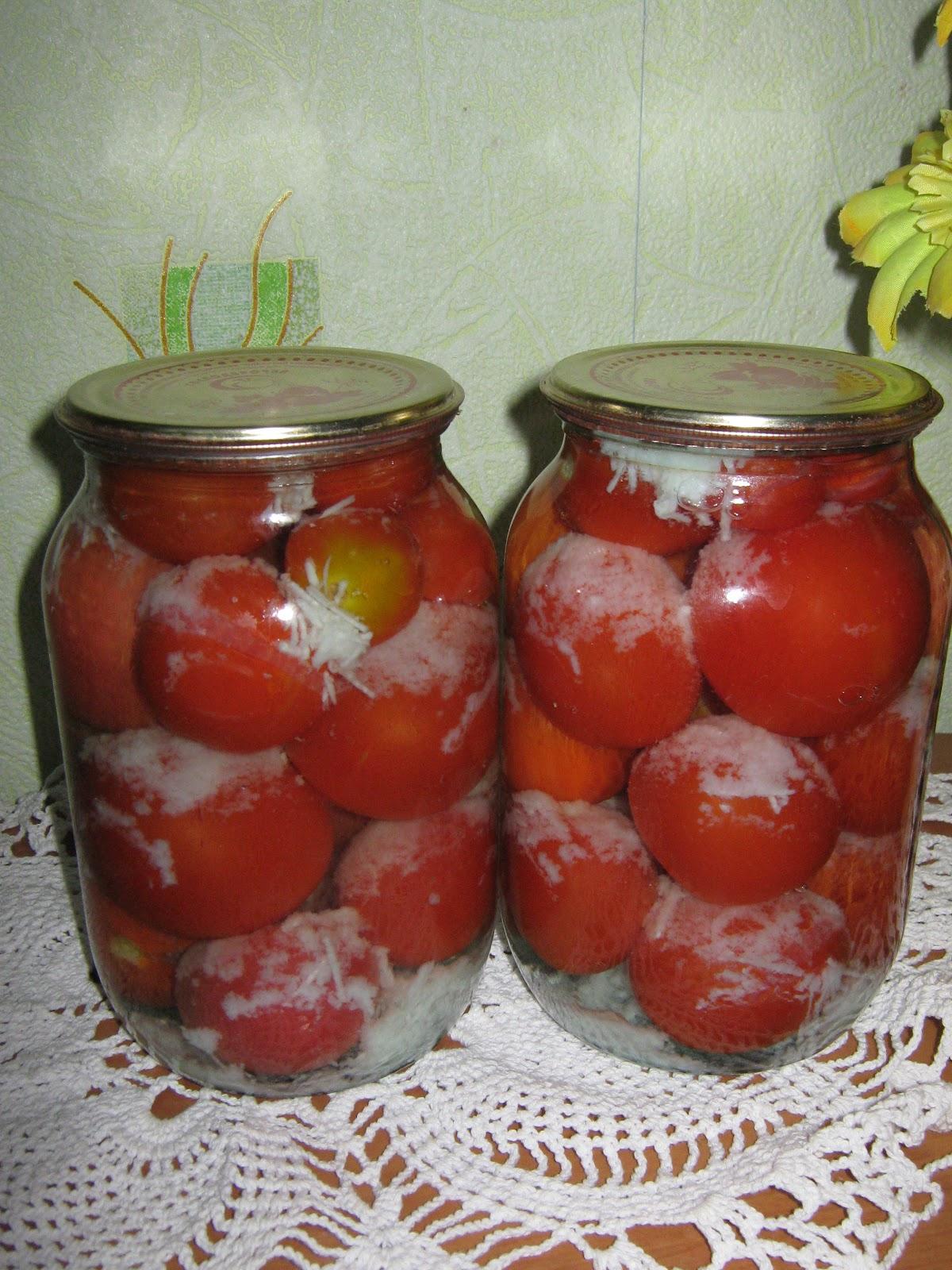 Маринованные помидоры в литровых банках пошаговый рецепт