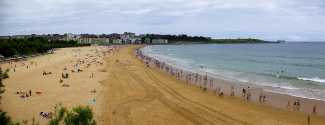 Panoramica de la playa de el sardinero en santander