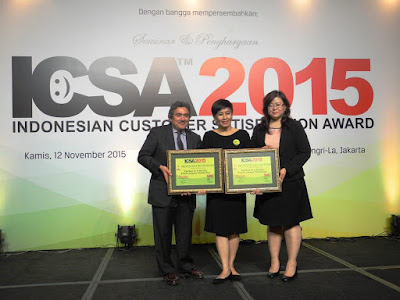 Prudential dan Dua Penghargaan di Indonesia Customer Satisfaction Award (ICSA) 2015