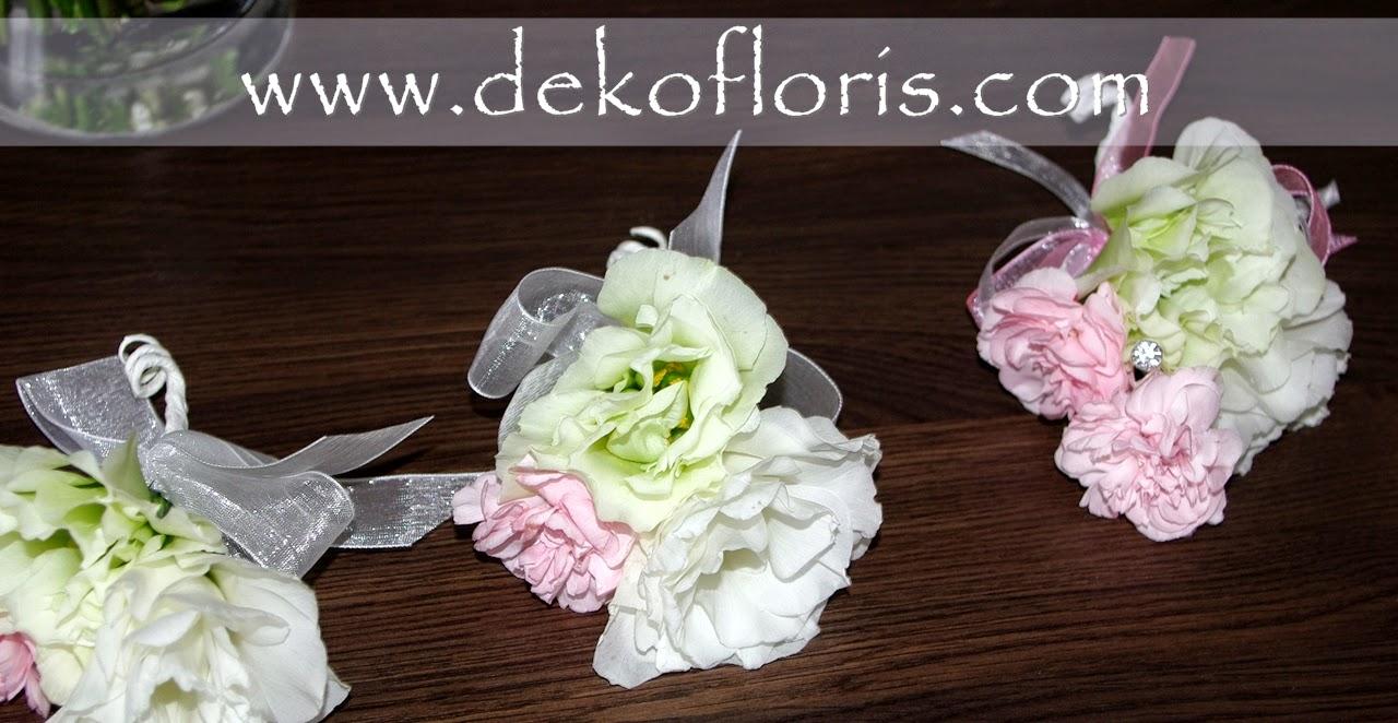 różowy bukiet ślubny i butonierki Opole Półwieś Dekofloris
