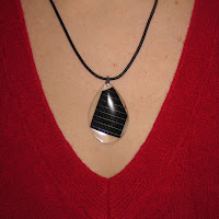 solar panel necklace