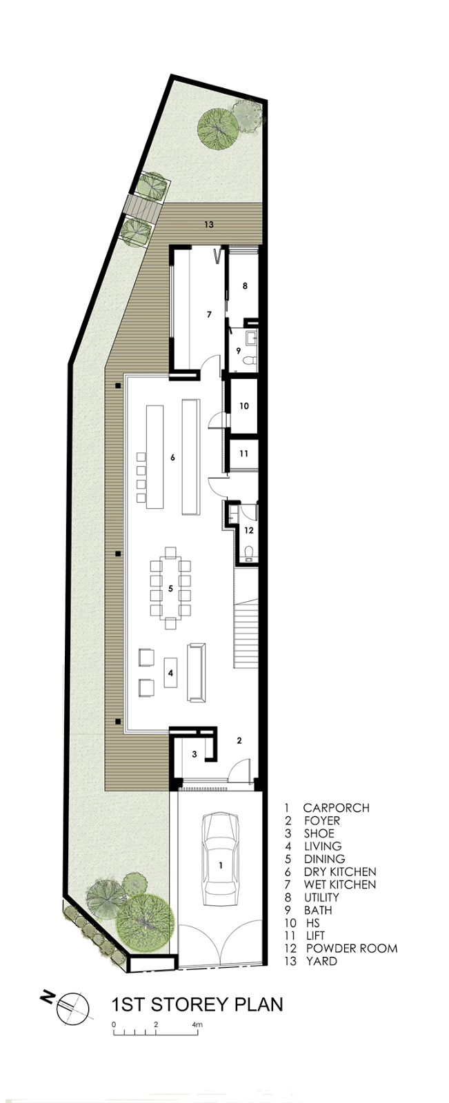 Ground floor plan of Modern House by Wallflower Architecture + Design