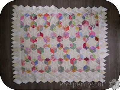 ProsperityStuff Quilts: Englsh Paper Pieced diamond stars quilt