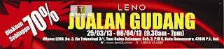 LENO Warehouse Sale 2013