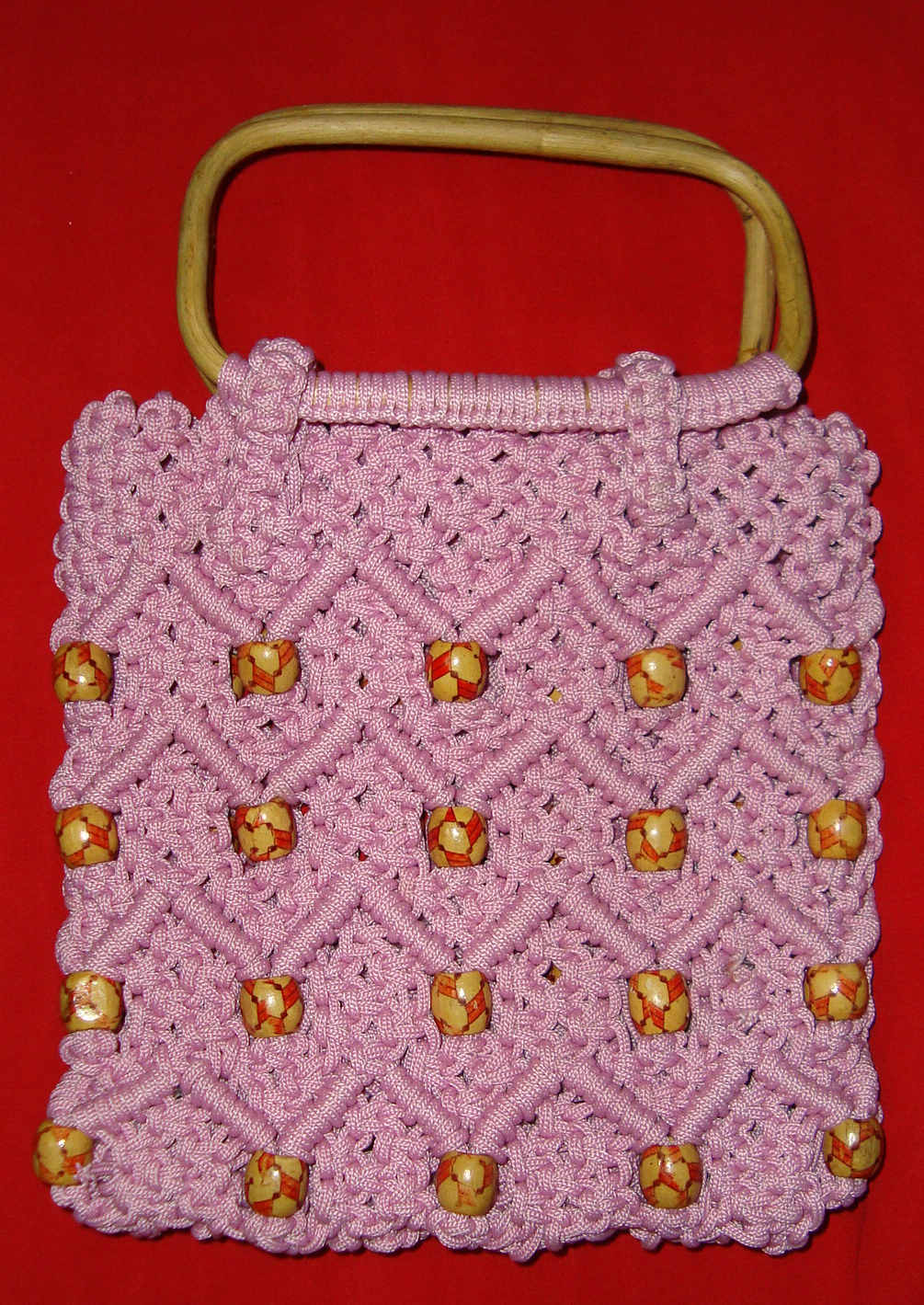 Вязание крючком макраме сумка