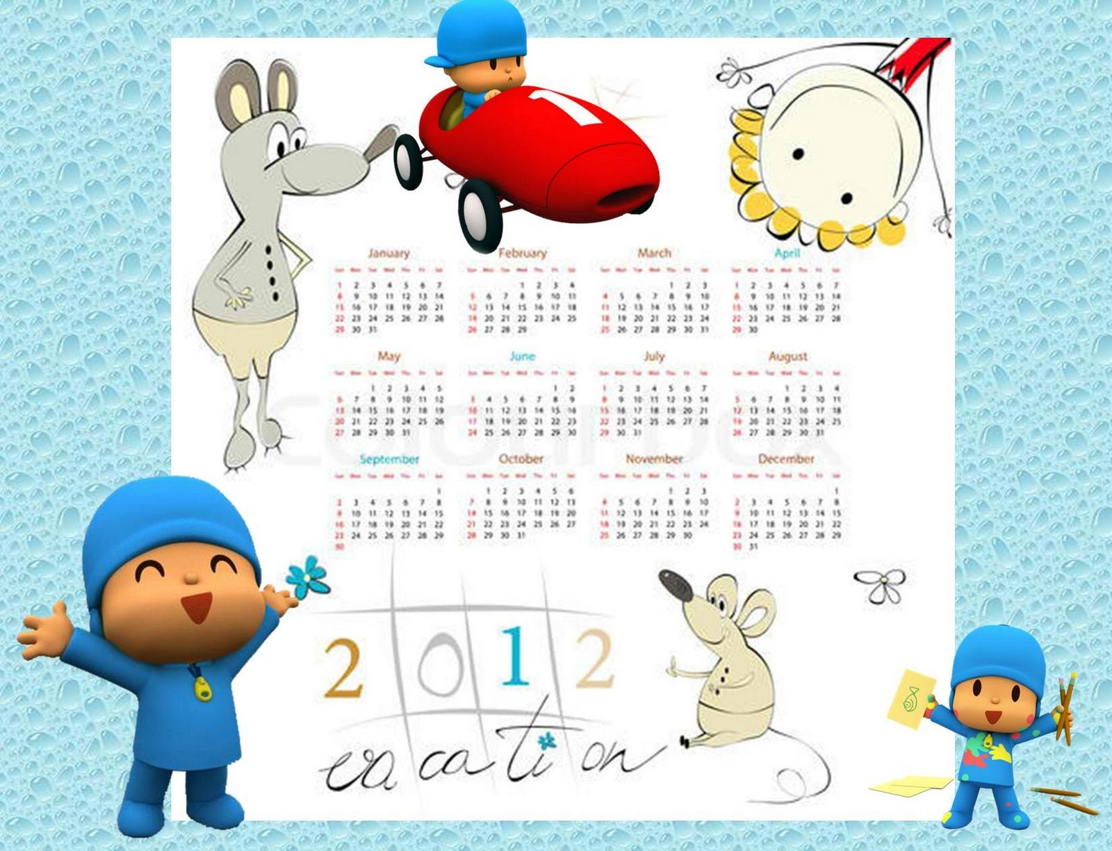 Calendar For Kids To Make : Printable disney calendar for kids how to make your own