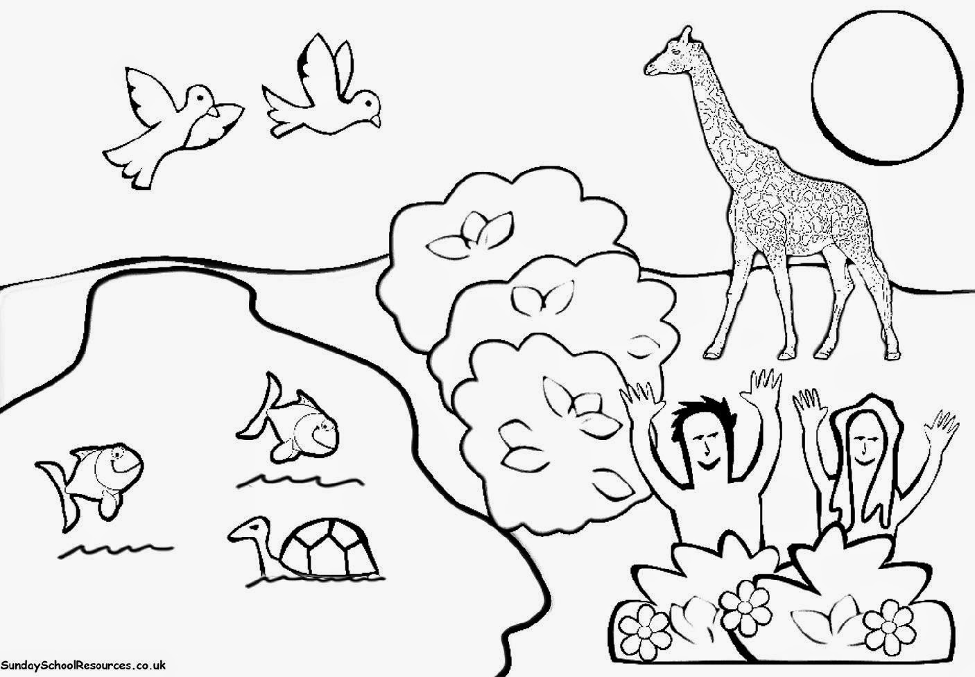Creation Day 6 Coloring Pages