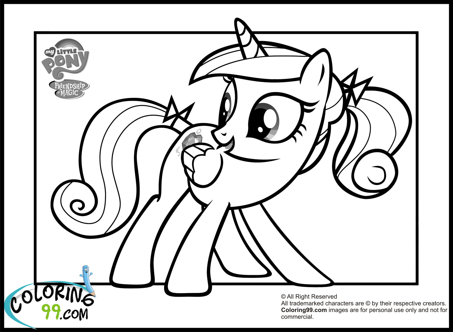 my little pony friendship is magic coloring pages cadence and