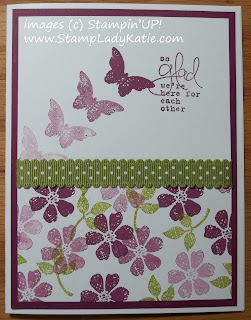 Card made with stamp set: Bloomin Marvelous and using the Stamping Off Technique