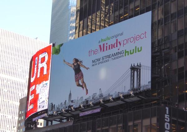 Mindy Project season 4 billboard Times Square