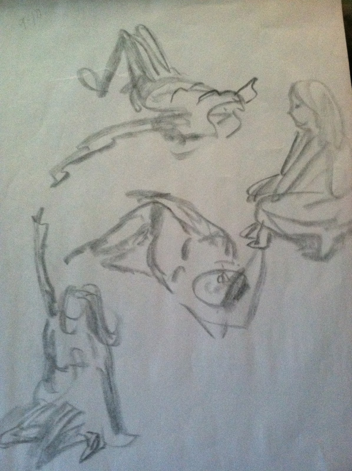 Scribble Gesture Drawing : Education in creativity figure drawing the gesture