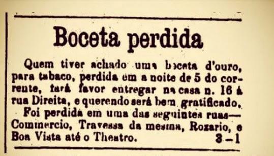 Recipiente de ouro para guardar fumo foi perdido há 140 anos, e dono publicou anúncio no jornal oferecendo boa gratificação.