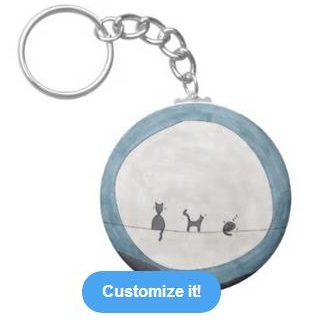 a moonlit key chain