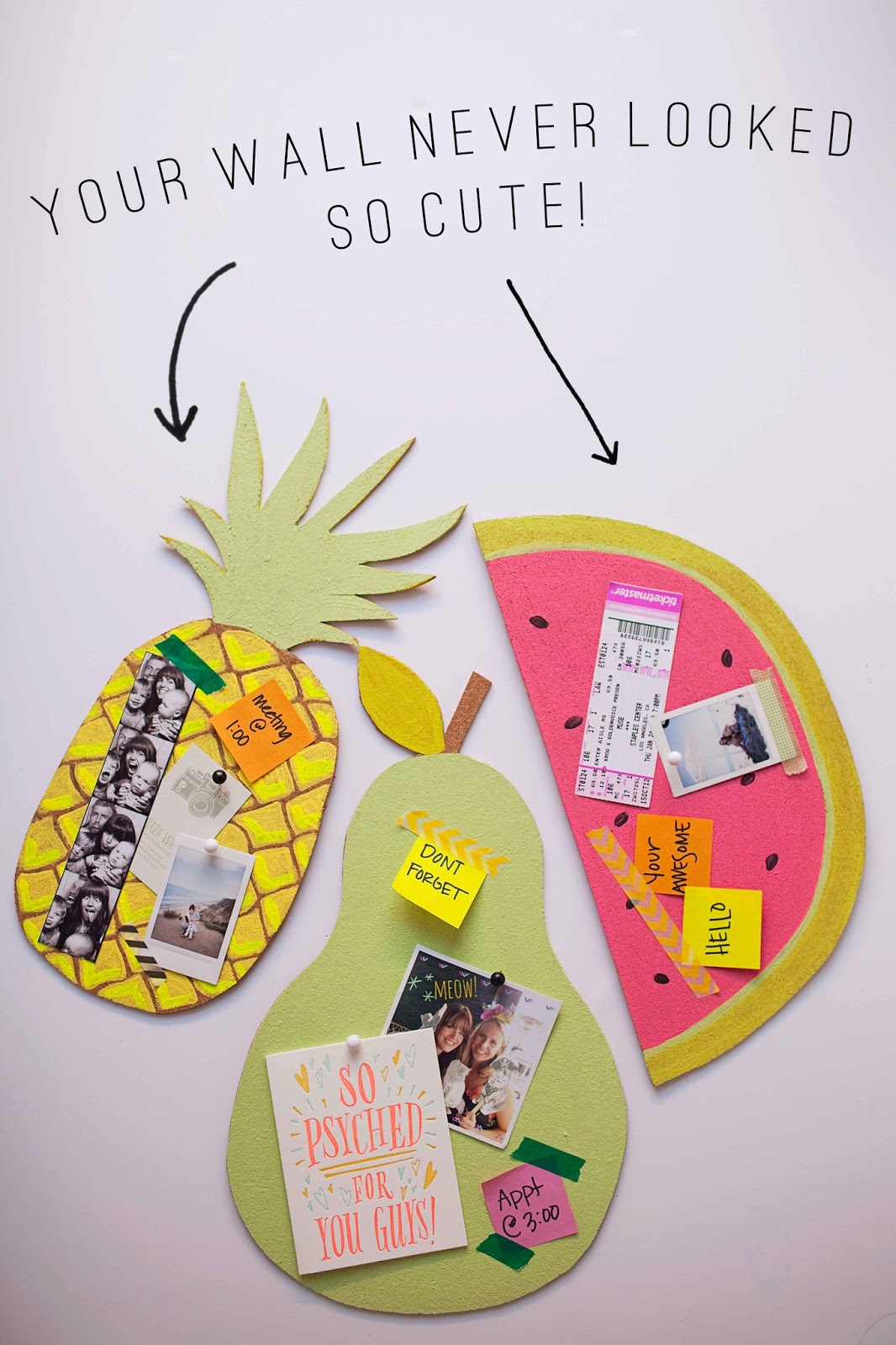 TELL: DIY FRUIT BULLETIN BOARDS - Tell Love and Party