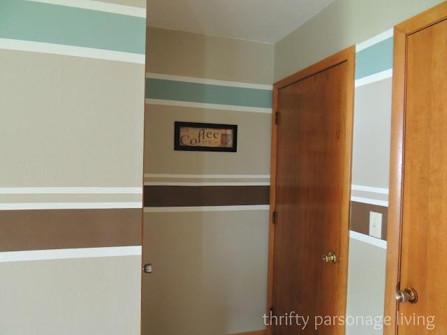 thrifty parsonage living painting horizontal stripes on walls diy. Black Bedroom Furniture Sets. Home Design Ideas