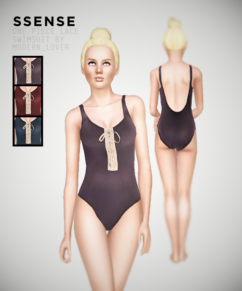 One piece lace swimsuit