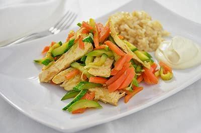 Petto di pollo con le verdure