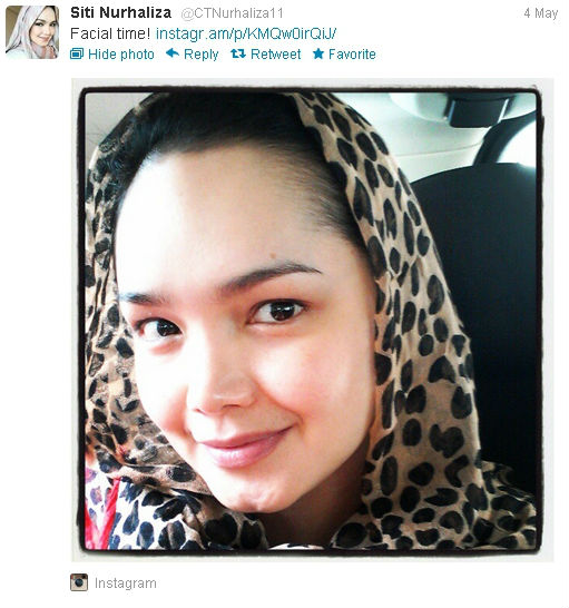 Wajah Artis Malaysia Tanpa Make-up