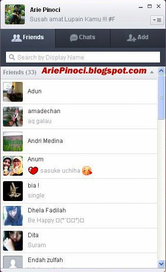 Profile Akun LINE di PC