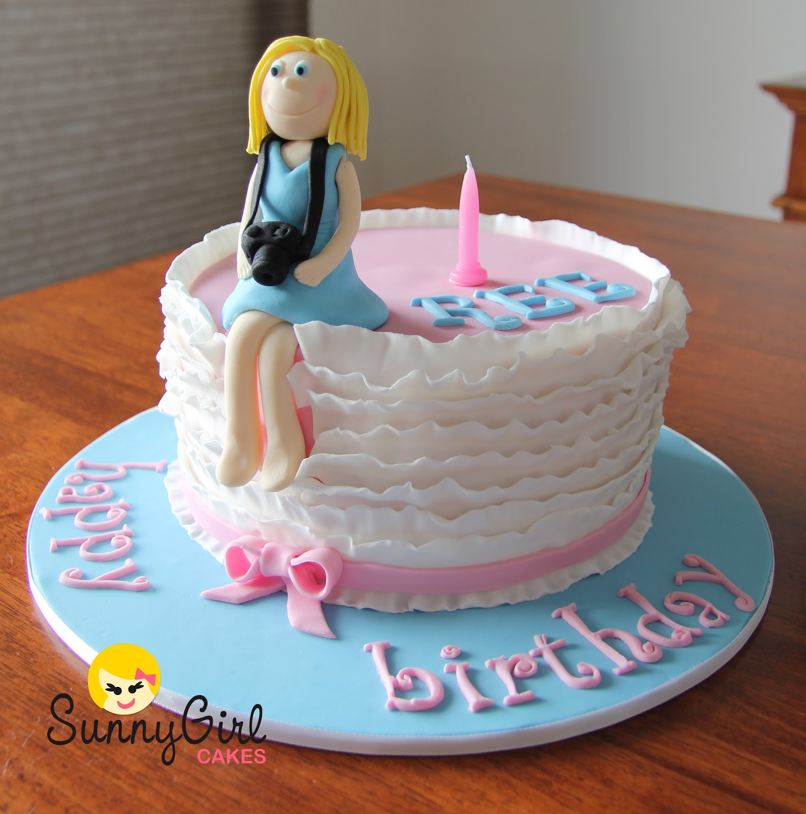 Birthday Cake Images With Name Sunny : Happy BIrthday Ree Sunny Girl Cakes