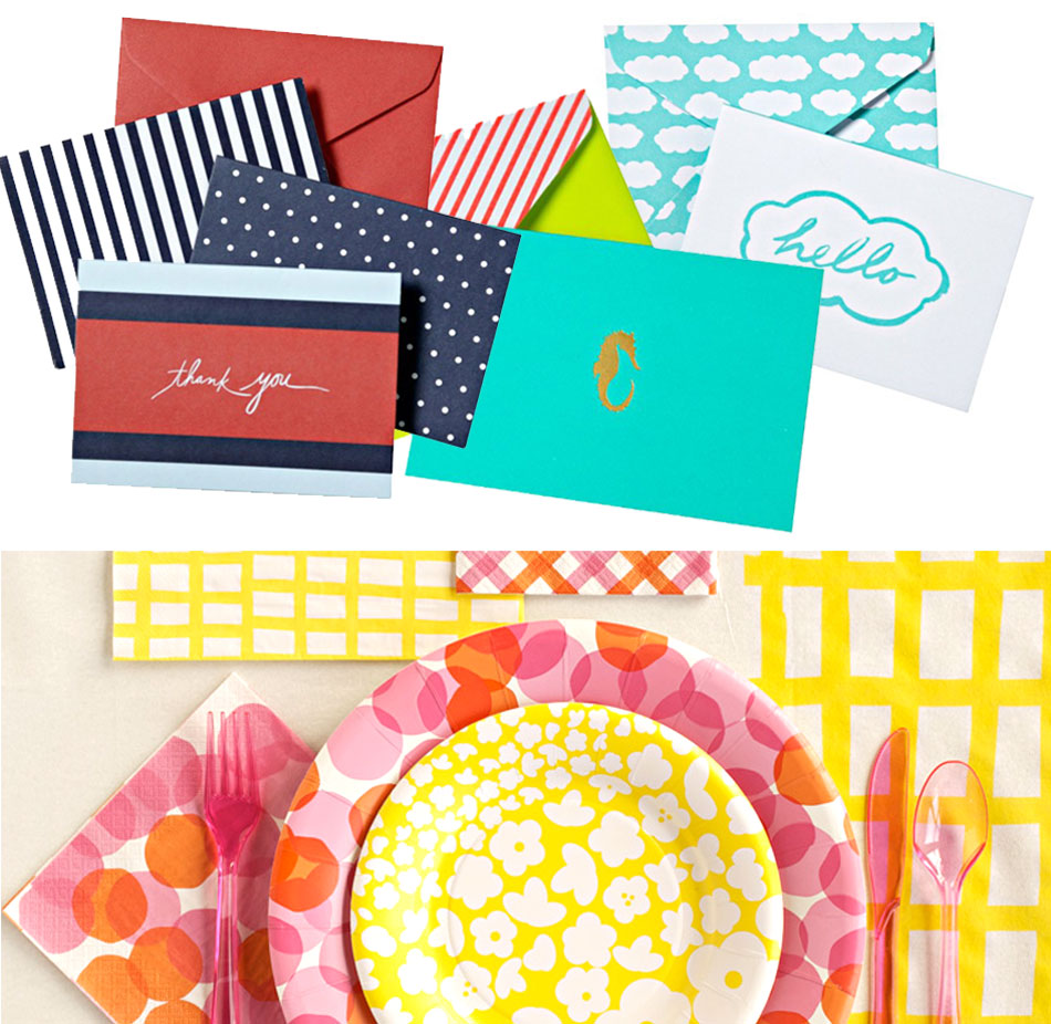 am loving all the mara mi paperie products at target these days. (it doesn't get better than pretty printed paper plates and envelopes!) happy tuesday.