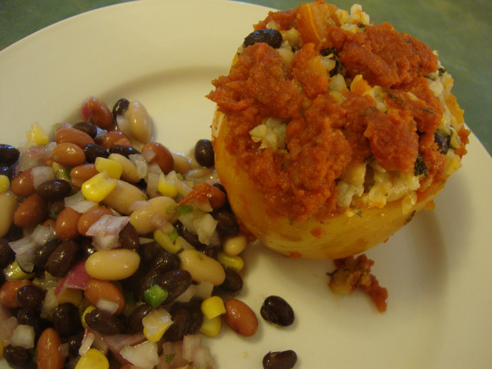 Busy Mom's Slow Cooker Adventures: Vegetarian Stuffed Peppers