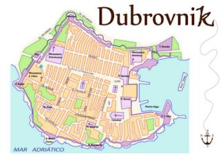 Plano de la audioguía de Dubrovnik