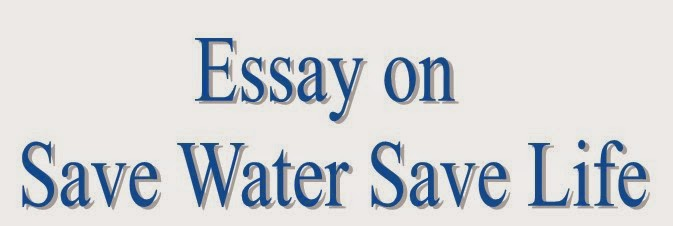 Essay writing on water