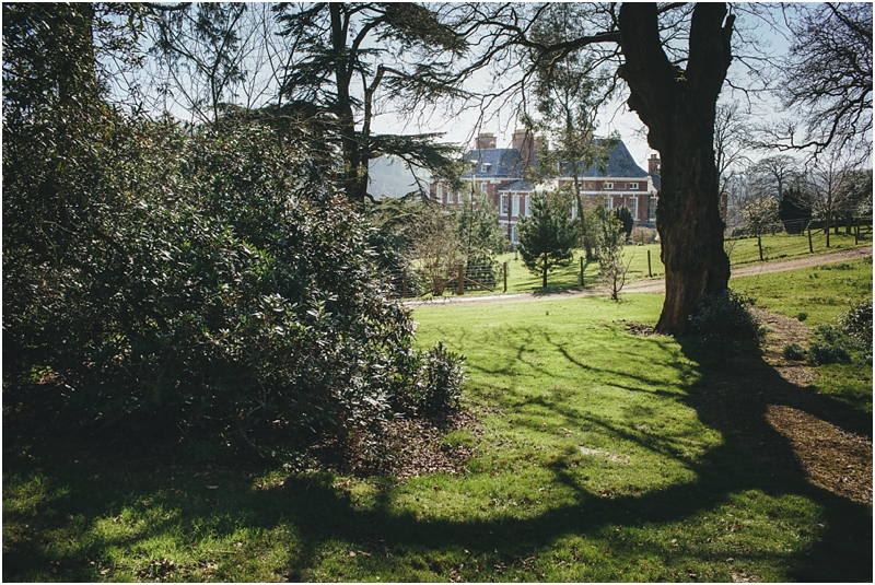 View of Pynes House from back garden