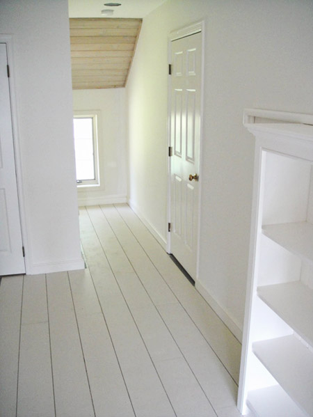 Four walls white washed timber floors for 180 water street 17th floor