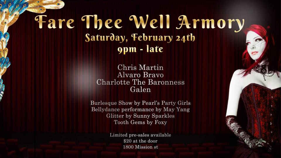 2/24: Fare Thee Well Armory