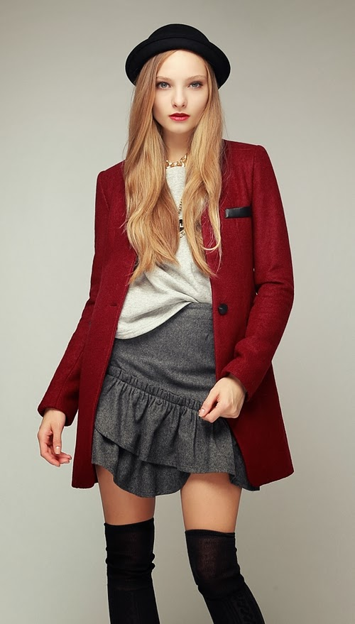 Vegan-leather Rapel Tailored Long Blazer Coat